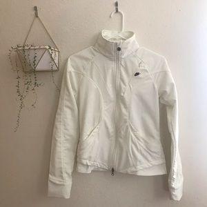 Nike White Zip Up